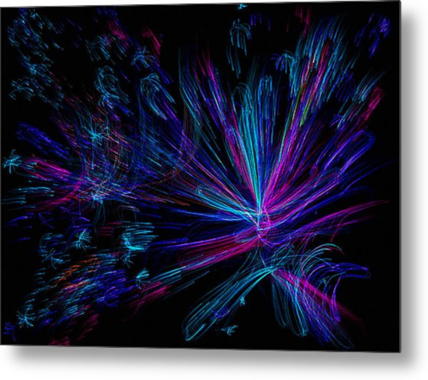 Magnetic Flower Metal Print