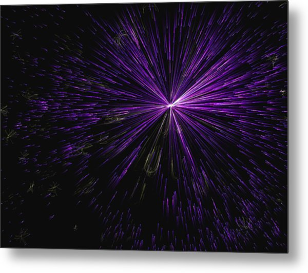 Magnetic Star Trails Metal Print
