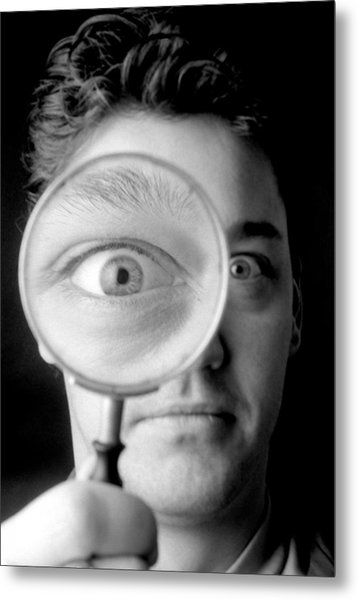 Magnified Eye Metal Print by Victor De Schwanberg
