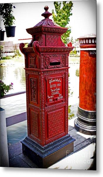 Mailbox Metal Print by Thanh Tran