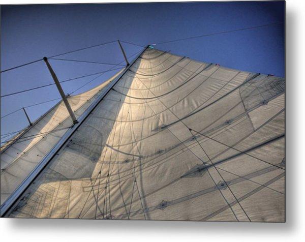 Main Sail Metal Print by Barry R Jones Jr