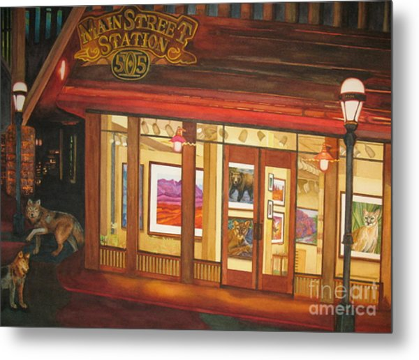 Mainstreet Station Metal Print by Vikki Wicks