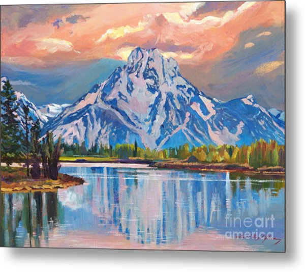 Majestic blue mountain reflections painting by david lloyd glover majestic blue mountain reflections metal print by david lloyd glover m4hsunfo