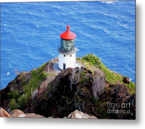 Makapupu Lighthouse Metal Print