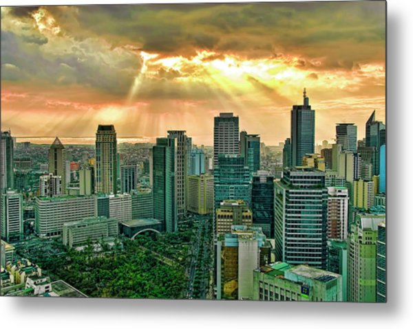 Makati City Skyline Metal Print