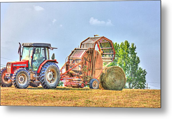 Making Hay Metal Print by Barry Jones
