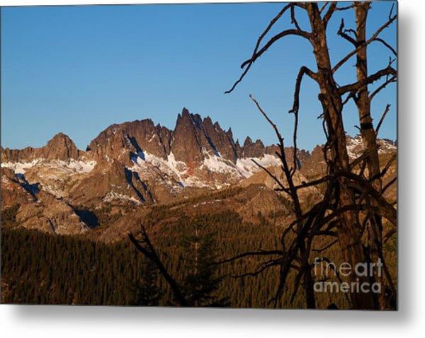 Mammoth Mountain California And Devils Postpile National Monument With Spires Metal Print by ELITE IMAGE photography By Chad McDermott