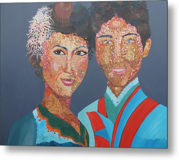 Man And  Wife Metal Print by Mao Soviet and  phin Sophorn