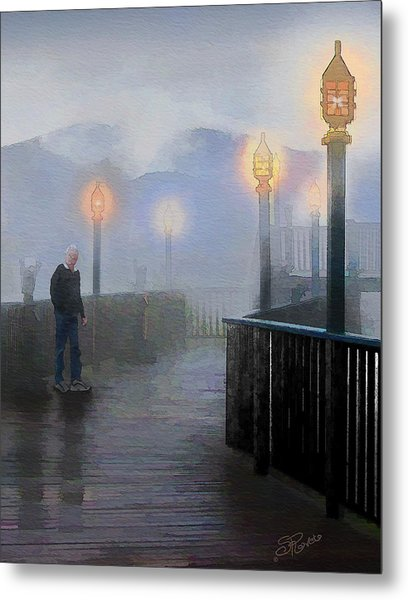 Man In A Fog Metal Print by Suni Roveto