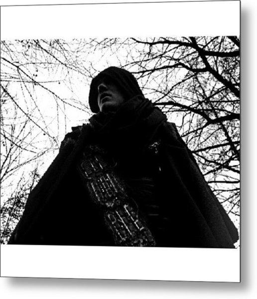 #man #movie #cape #sci-fi #tree Metal Print