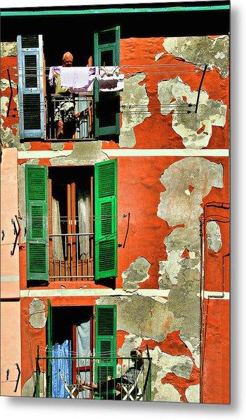 Manarola Apartment Metal Print