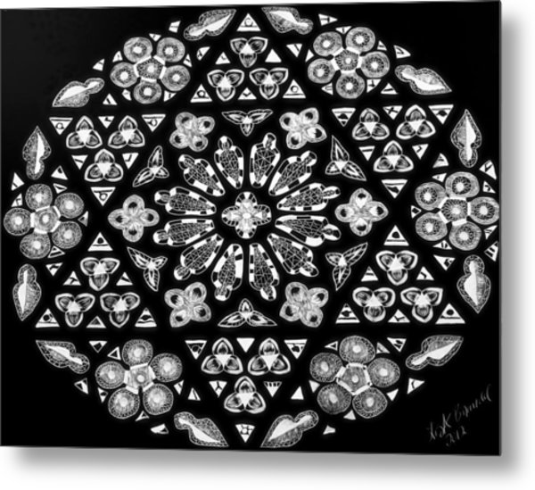 Mandala Of Hope Phase 1 Metal Print