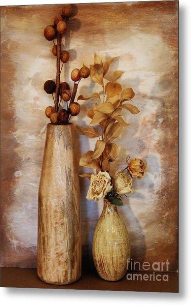 Mangowood Vase Metal Print by Marsha Heiken