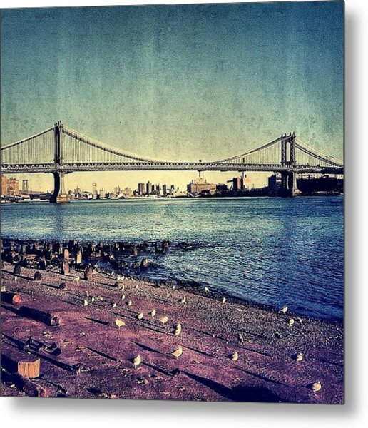 Manhattan Bridge - New York Metal Print