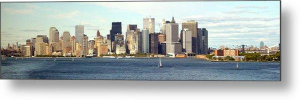 Manhattan Skyline Panarama Metal Print