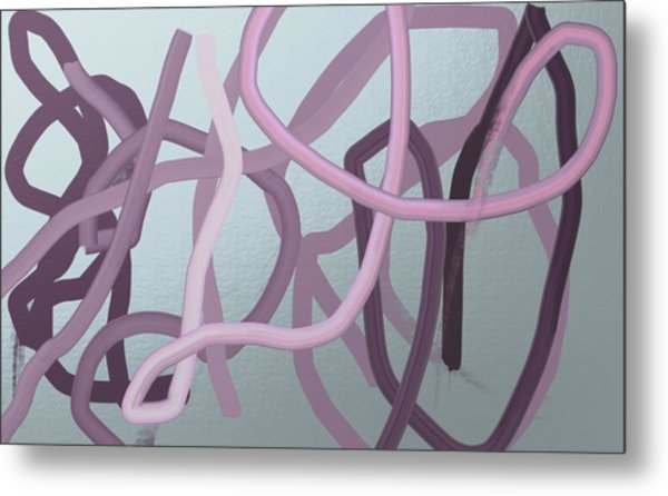Many Strands -- One Knot Metal Print
