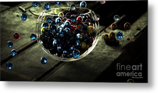 Marbles In A Bowl Metal Print