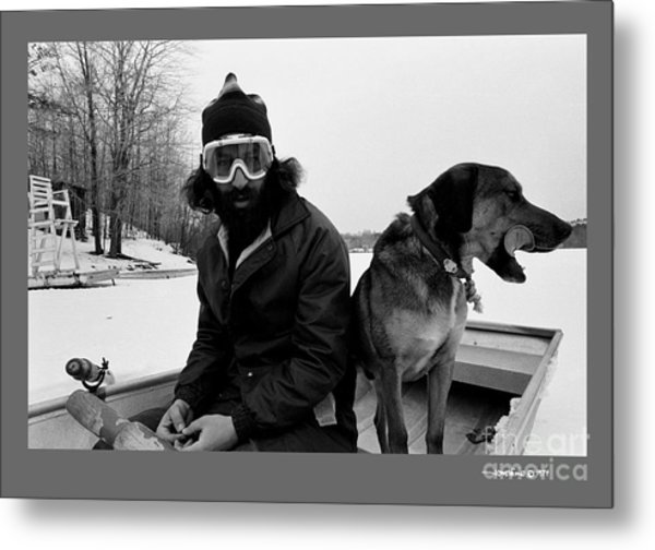 Marc Ice Boat Metal Print