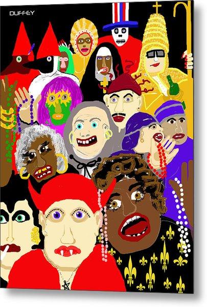 Mardi Gras New Orleans Metal Print