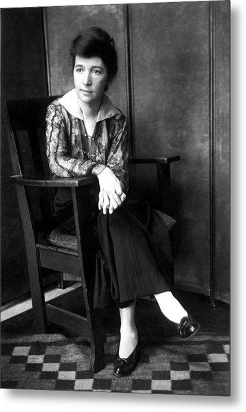 Margaret Sanger In 1916 Metal Print by Everett