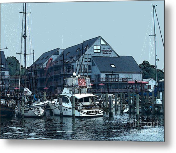 Marina On Chesapeake Bay Metal Print