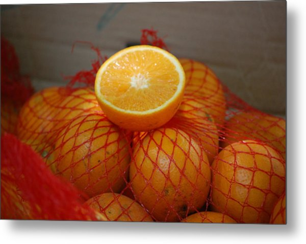 Market Oranges Metal Print by Dickon Thompson