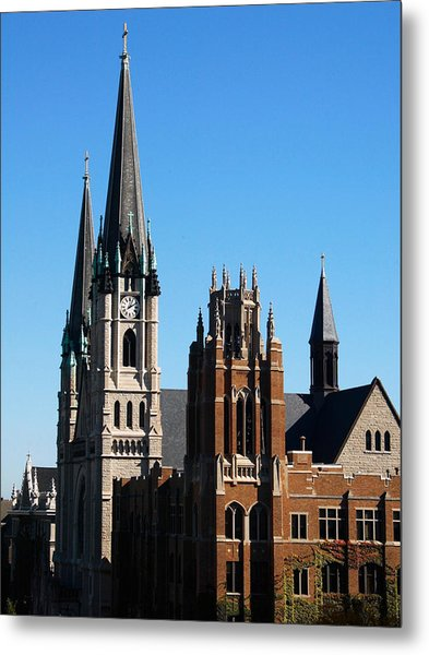 Marquette Towers Of Gesu Church And Marquette Hall Metal Print