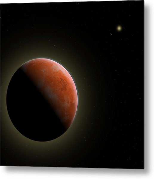 Mars - The Red Planet Metal Print