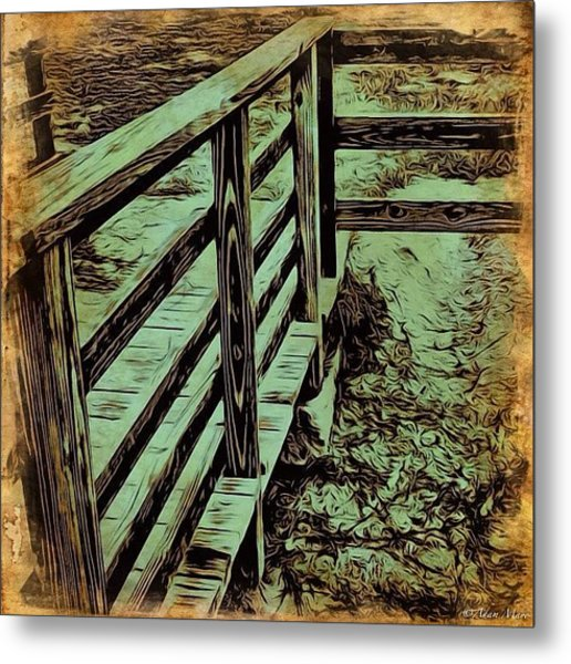 Marsh Dock - Walking On Water... #dock Metal Print