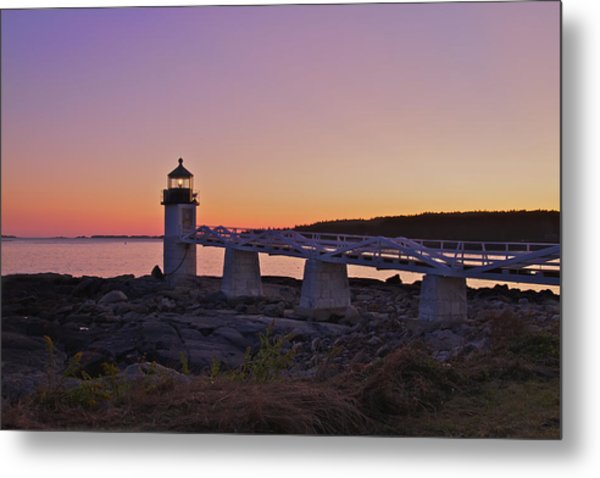 Marshell Point Light House Metal Print
