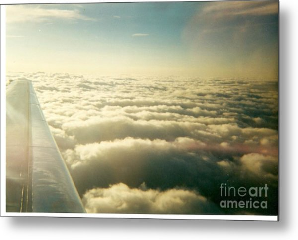 Marshmallow Clouds Metal Print