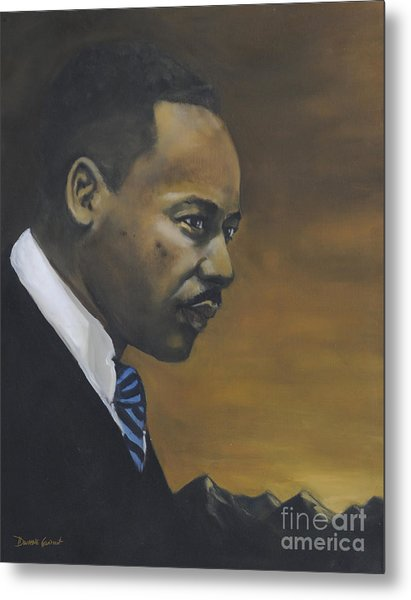 Metal Print featuring the painting Martin Luther King Jr - From The Mountaintop by Dwayne Glapion
