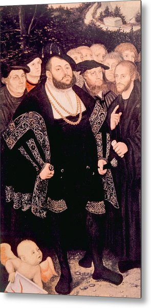 Martin Luther Left With His Friends Metal Print by Everett