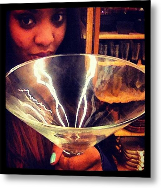 #martini #glass #huge #birthdaygirl Metal Print