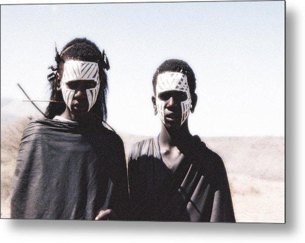 Masai Teens On Quest Metal Print