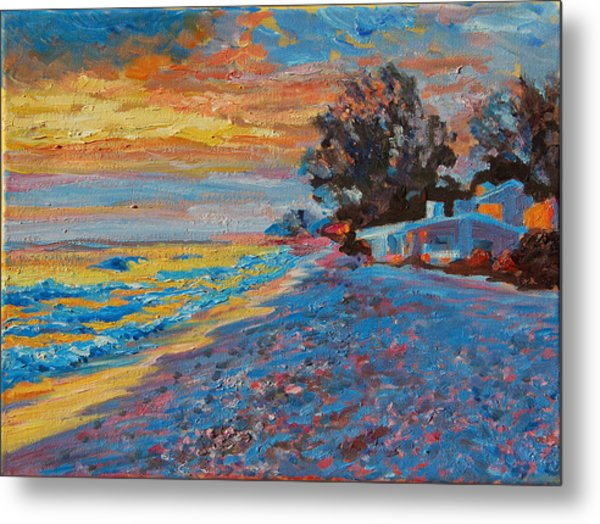 Masasota Key Sunset Metal Print