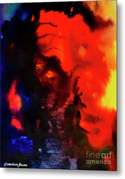 Masked Illusion Metal Print