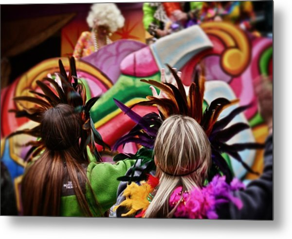 Masked Mardi Gras Women Metal Print