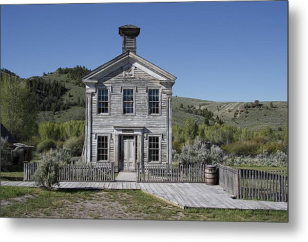 Masonic Temple 3 - Bannack Montana Metal Print