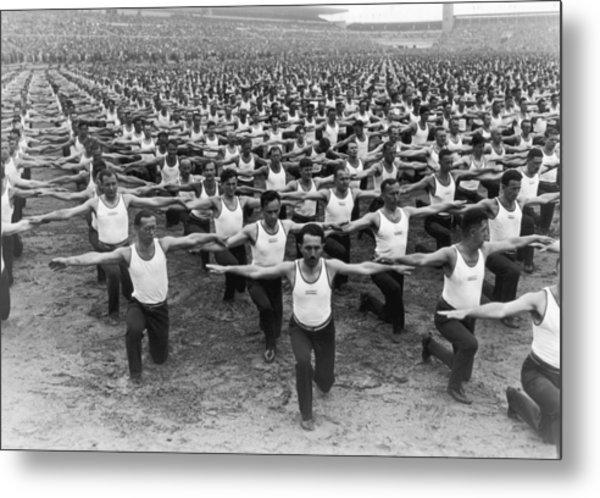 Mass Gymnastics Metal Print by Archive Photos