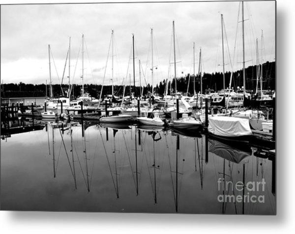 Masts Over And Under Metal Print