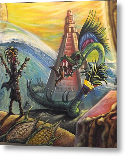 Mayan Predictions 2012 Metal Print by Joe Santana
