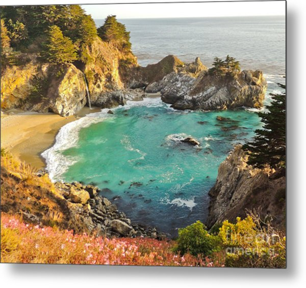 Mc Way Falls Cove Metal Print