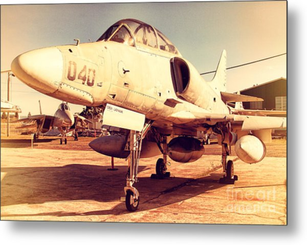 Mcdonnell Douglas Ta-4j Skyhawk Aircraft Fighter Plane . 7d11198 Metal Print by Wingsdomain Art and Photography