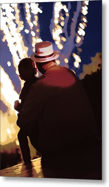 Me And Papa - 4th Of July Metal Print