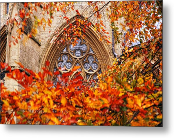 Medieval Firewall Today Metal Print by Duncan Nelson