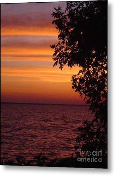 Meditation Sunset Metal Print