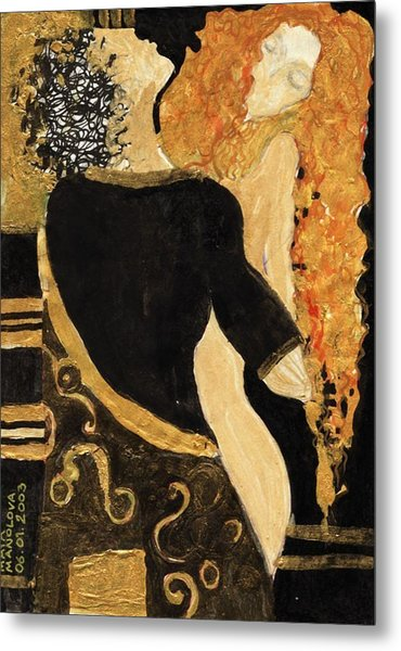 Meeting Gustav Klimt  Metal Print