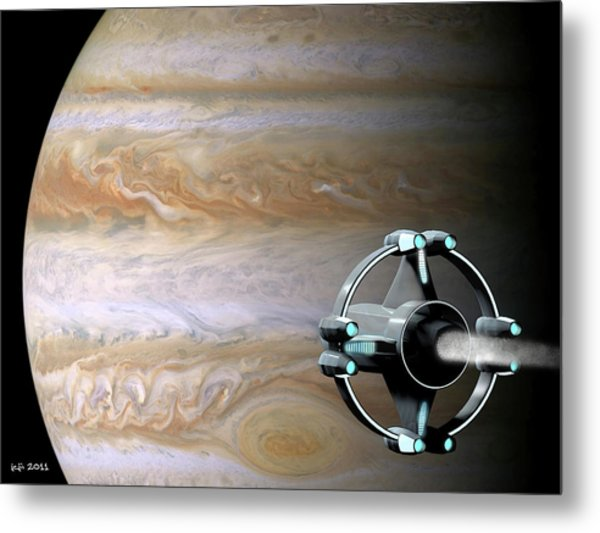 Meeting Jupiter Metal Print