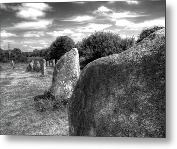 Megalithes In Carnac Metal Print by Philwebbphotography